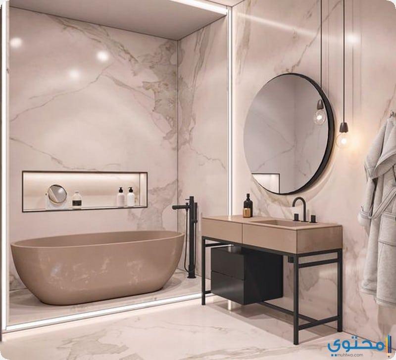 حمام صغير باللون السيمون