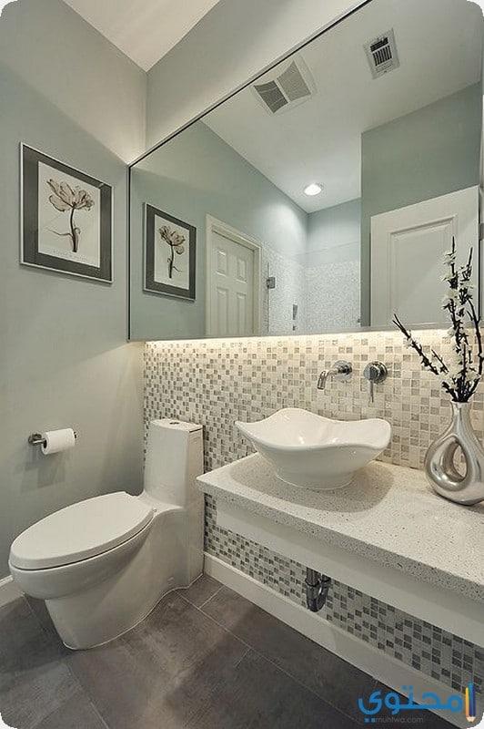 حمام بتصميم بسيط